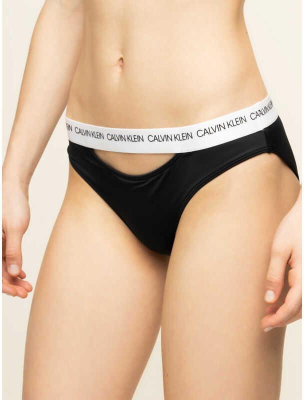 Calvin Klein Swimwear Dół od bikini Classic KW0KW00658 Czarny