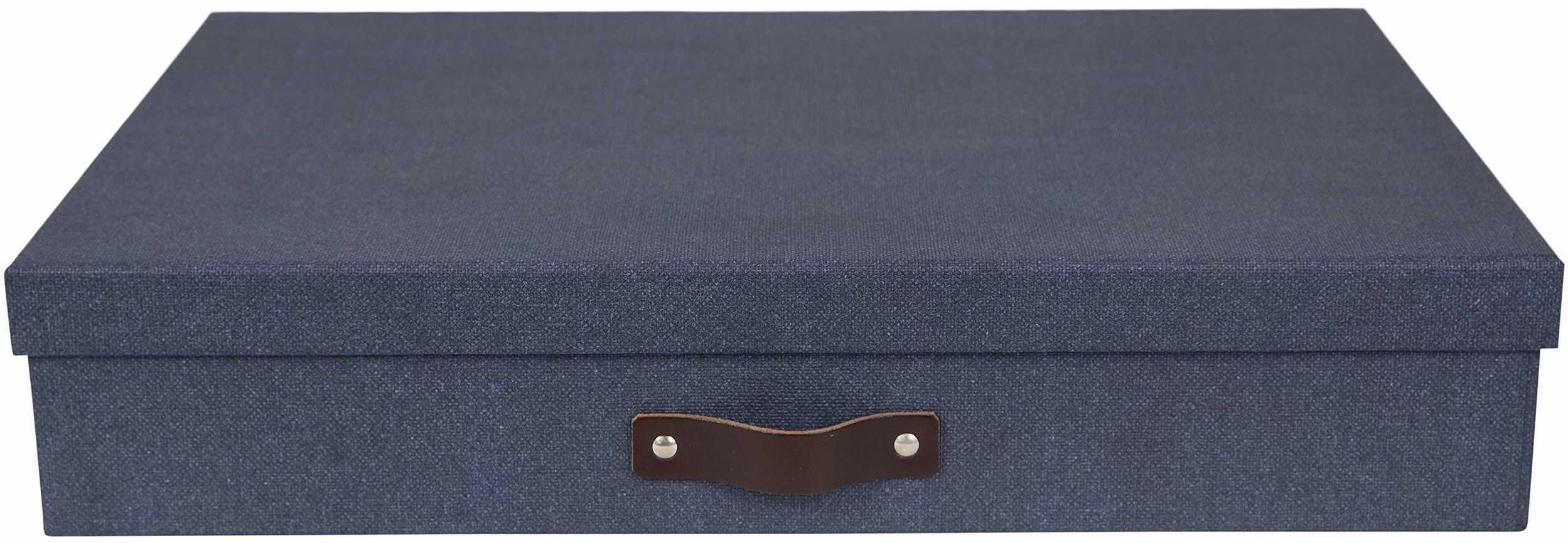 Sverker Box / pudełko do przechowywania dokumentów biurowych A3, 44 cm szerokości x 31 cm głębokości x 9 cm wysokości niebieskie