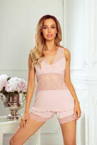 Piżama damska eldar patrizia jasno różowa