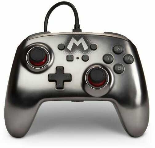 PowerA Switch Pad przewodowy Mario Silver - szybka wysyłka!