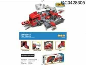 Ciężarówka transporter wóz strażacki 2w1 parking laweta
