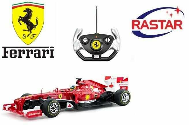 Duży Licencjonowany Zdalnie Sterowany Bolid Ferrari F1 RASTAR (1:12) + Bezprzewodowy Pilot.
