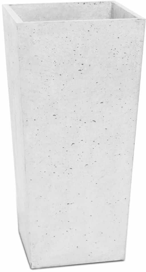 Donica betonowa CONE M 32x32x63 biały