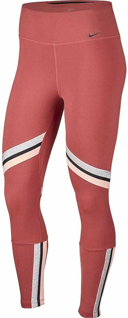 Nike damskie legginsy Tight One Icon Clash 7/8 zielony Cedar/Metallic Silver/Black X-S