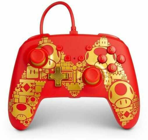PowerA Switch Pad przewodowy Mario Golden M - szybka wysyłka!