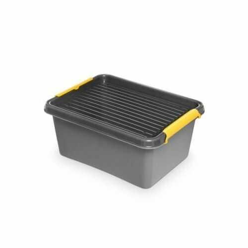 Pojemnik do przechowywania zamykany 300x165x400mm 12,5l ORPLAST SOLIDSTORE BOX szary 1 szt /OR-1522/