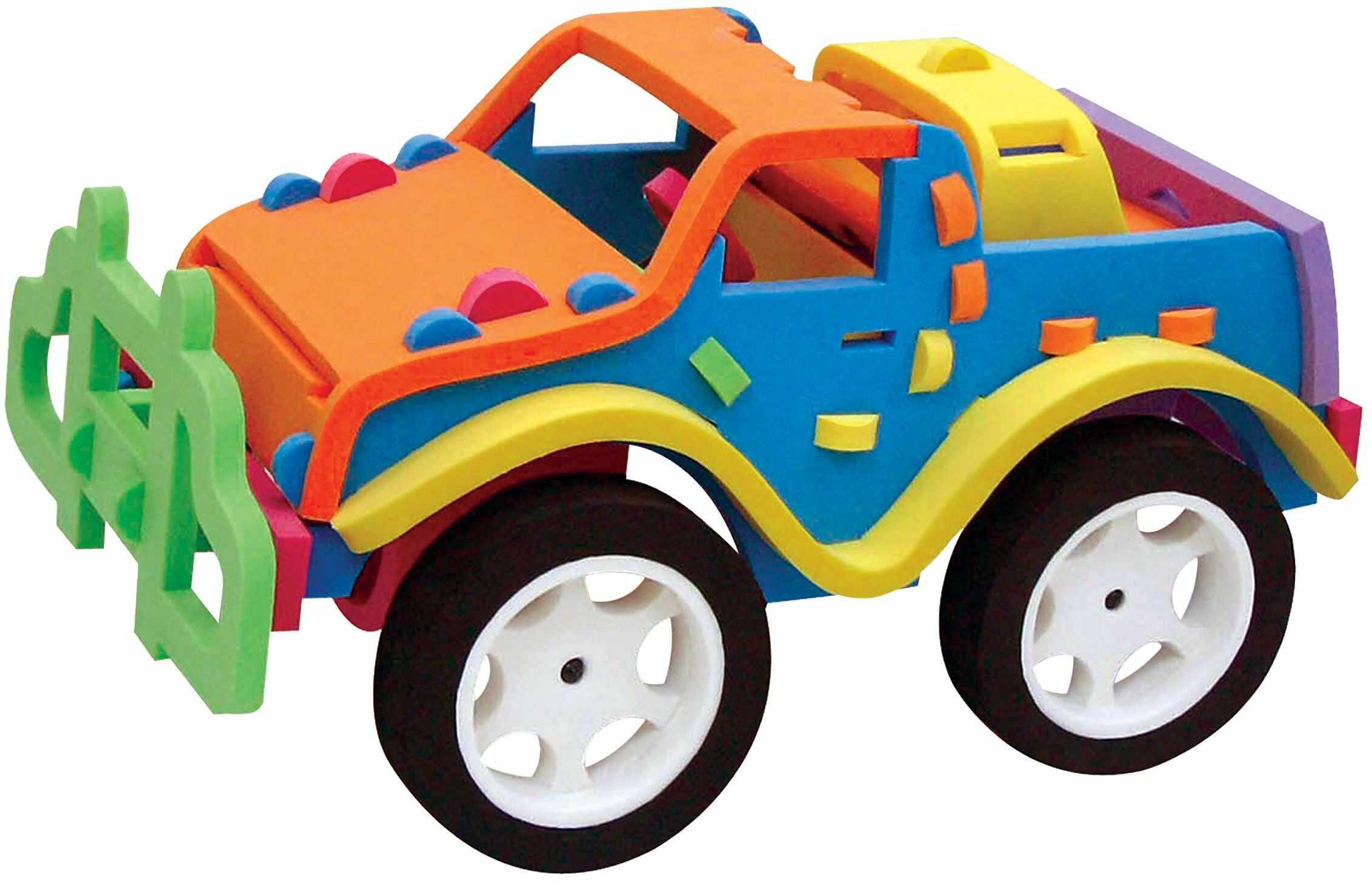 Trudi 82929 - samochód terenowy Sevi Soft, pluszowy, 29 x 15 x 16 cm, wielokolorowy