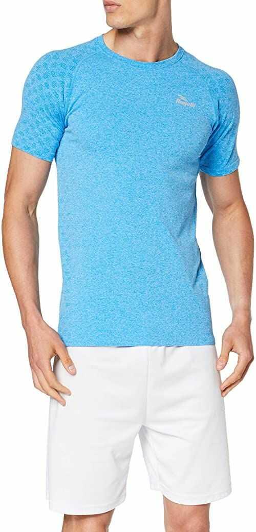 Rogelli Męska bezszwowa koszulka bez szwów niebieski XL