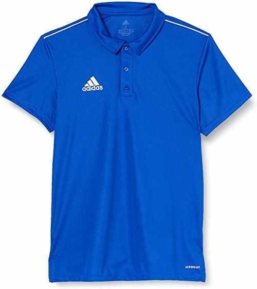adidas Męska koszulka polo Core18 niebieski niebieski/biały (Bold Blue/White) XL