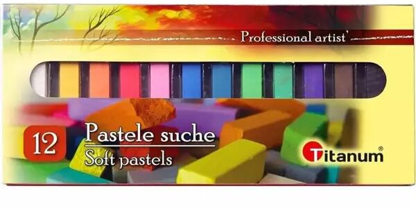 Pastele suche 12 kolorów - Titanum