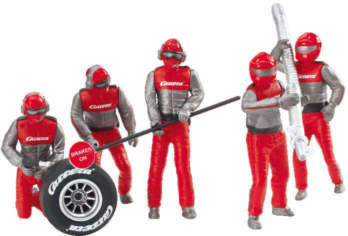 Carrera - Zestaw figur, mechanicy Carrera czerwoni Crew 21131
