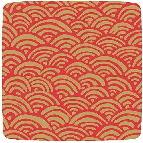 Rozrywka z tęczowymi talerzami obiadowymi Caspari Lulu, czerwone, opakowanie 8 szt.