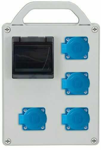 Rozdzielnica przenośna R-BOX 240R 4S 4x250V, puste okno IP44 B.1713R
