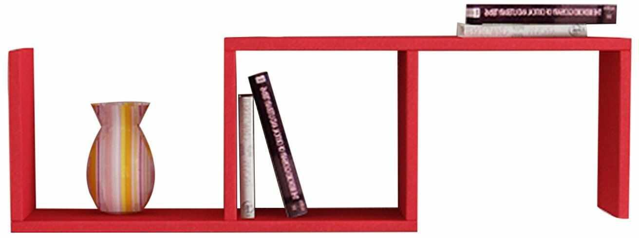 Best seller living regał ścienny Dibi czerwony