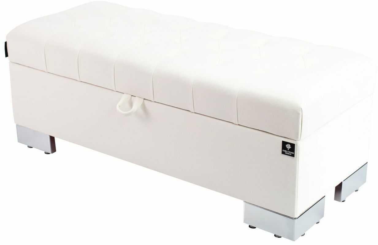 Kufer Pikowany CHESTERFIELD Biały / Model Q-4 Rozmiary od 50 cm do 200 cm