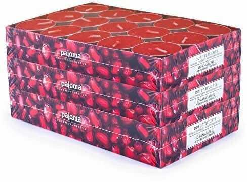 pajoma Podgrzewacze z granatu, trójpak (3 x 30 podgrzewaczy, Boże Narodzenie)