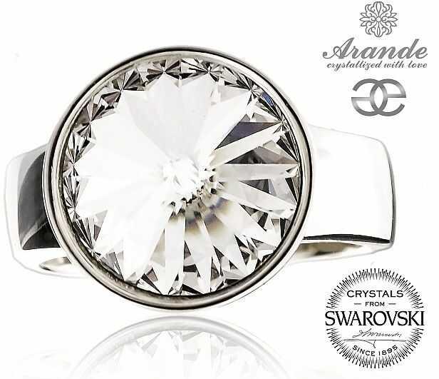 SWAROVSKI przepiękny pierścionek CRYSTAL PARIS SREBRO