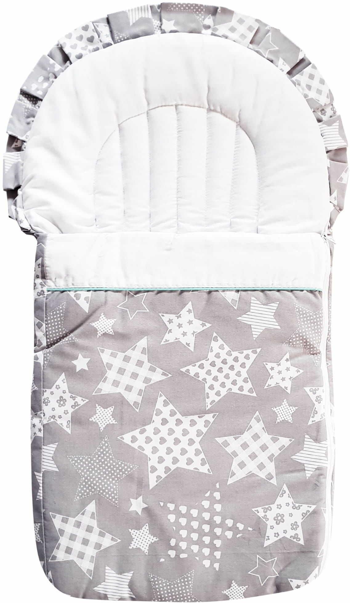 Rożek dla niemowlaka - becik dla dziecka Duże Gwiazdy  100% bawełna