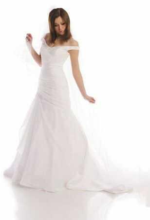 FSS506 Suknie Ślubne Suknia BIAŁY