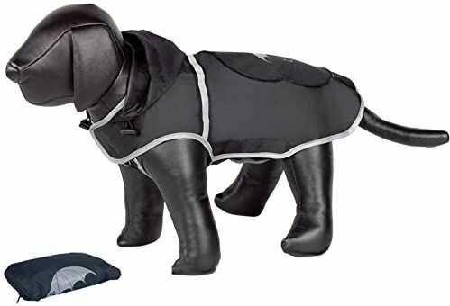 Nobby Rainy Dog płaszcz przeciwdeszczowy, 29 cm, czarny
