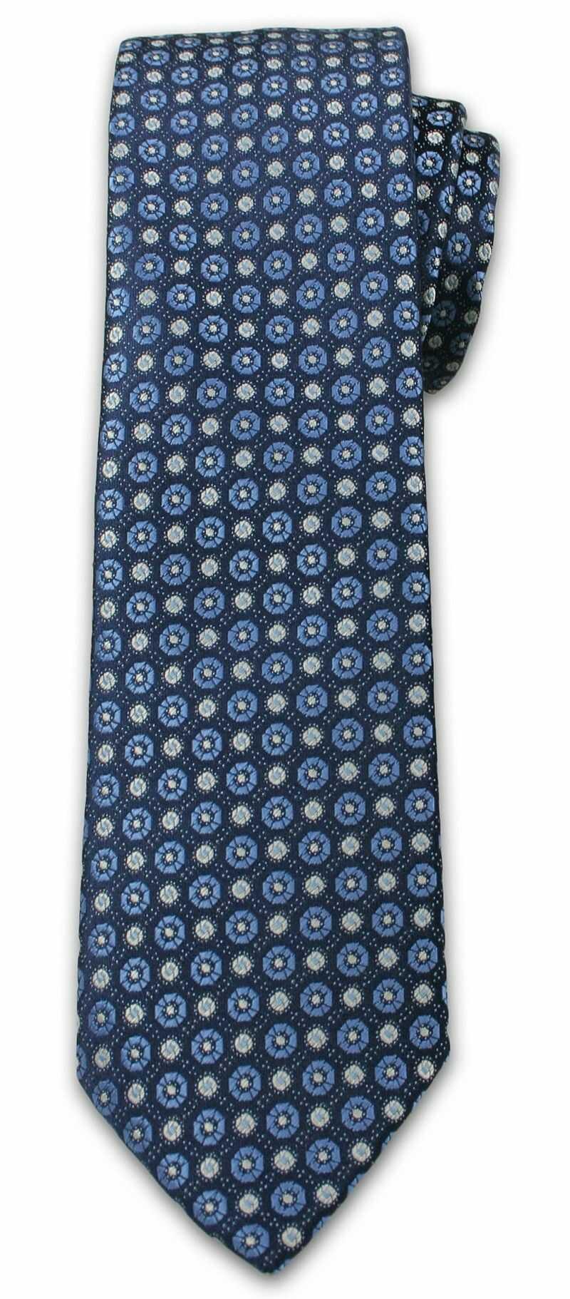 Wzorzasty Krawat Męski w Kółeczka - 6,7cm - Chattier - Kolorowy KRCH0998