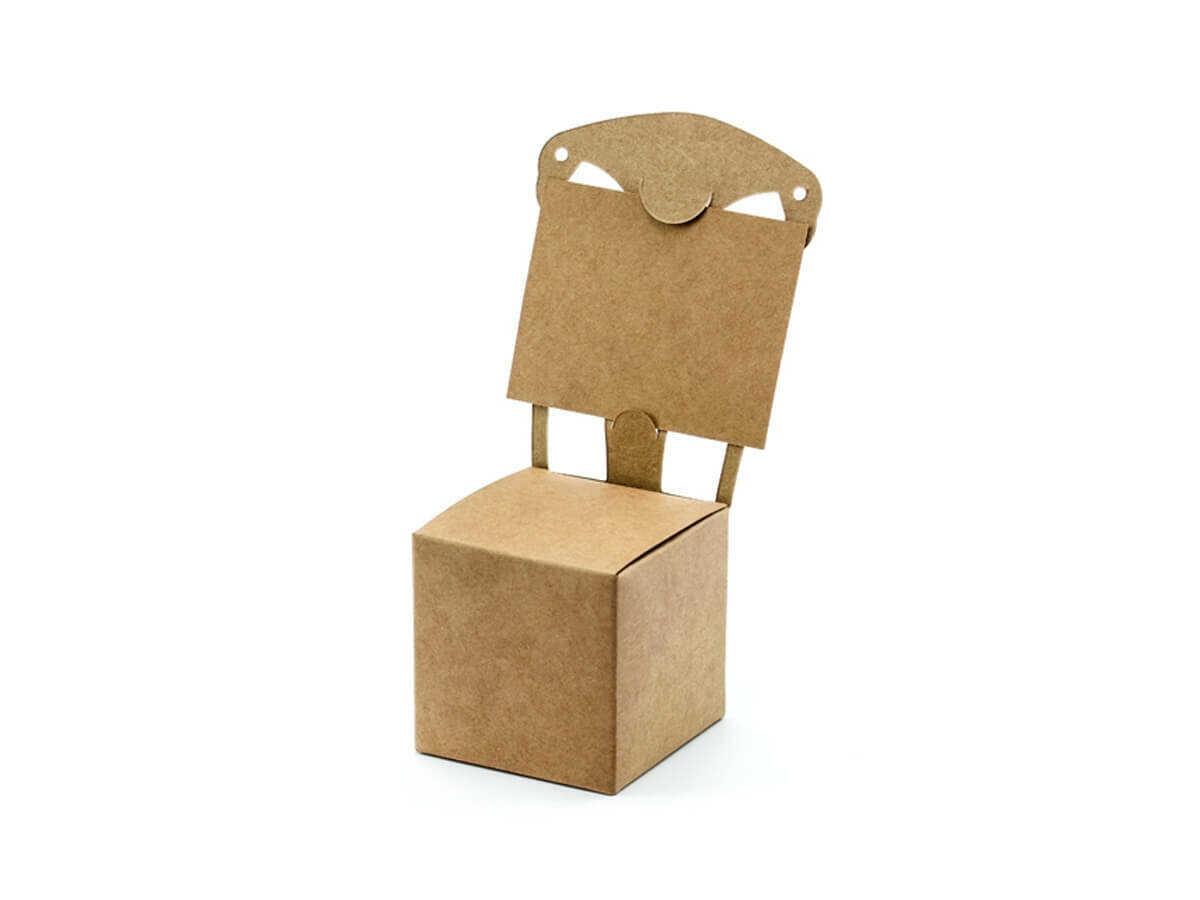 Pudełeczka dla gości krzesełka brązowe - 10 szt.