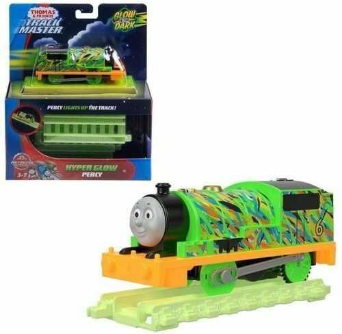 Fisher Price Track Master - Świecąca lokomotywa + tory Percy FVJ74