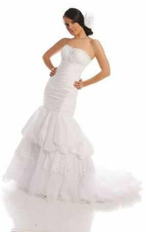 FSS509 Suknie Ślubne Suknia BIAŁY
