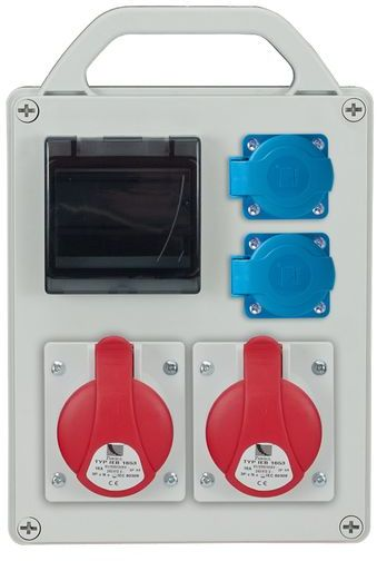 Rozdzielnica przenośna R-BOX 240R 4S 2x16A/5P 2x250V, puste okno IP44 B.1702R