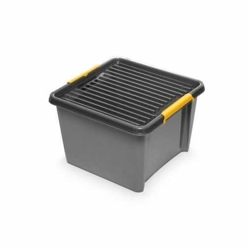 Pojemnik do przechowywania zamykany 400x260x400mm 25,0L ORPLAST SOLIDSTORE BOX szary 1 szt /OR-1692/