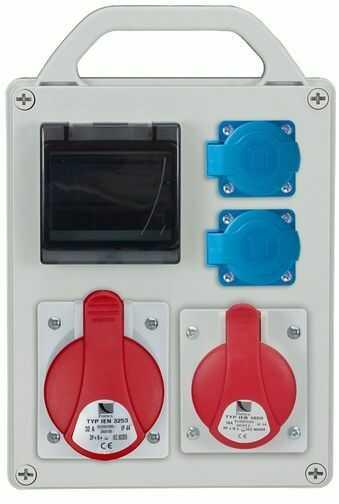 Rozdzielnica przenośna R-BOX 240R 4S 1x32A/4P 1x16A/4P 2x250V, puste okno IP44 B.1704R
