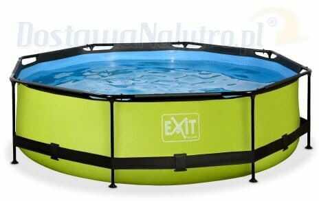 Basen Exit Lime okrągły 300 cm ogrodowy + pompa filtrująca