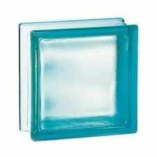 Pustak szklany 198 Turquoise Frosted EI15 E60 matowy 19x19x8cm luksfer