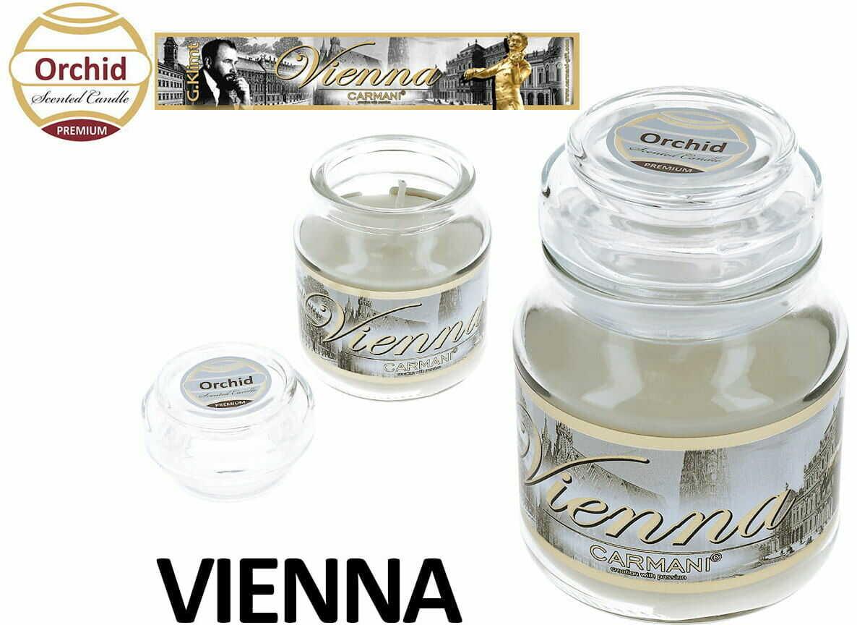 Carmani, świeczka zapachowa american mały - Vienna. Orchid