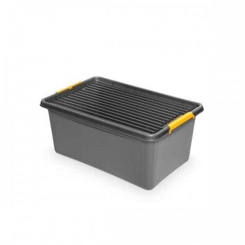 Pojemnik do przechowywania zamykany 400x260x400mm 40,0l ORPLAST SOLIDSTORE BOX szary 1 szt /OR-1722/ !dostępność 08-05-2021!