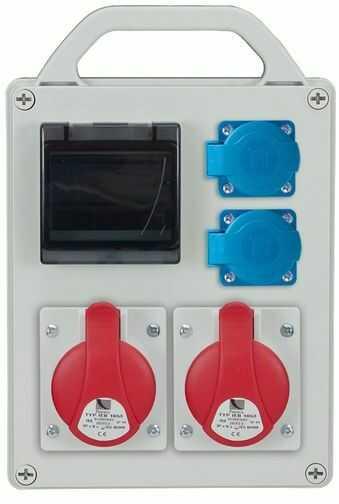Rozdzielnica przenośna R-BOX 240R 4S 2x16A/4P 2x250V, puste okno IP44 B.1705R
