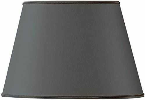 Klosz lampy owalny, Ø 20 x 13,5 x 8,5 x 13,5 cm, czarny