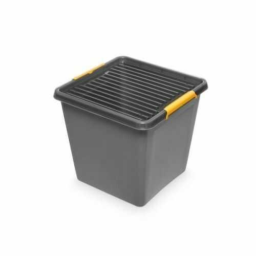 Pojemnik do przechowywania zamykany 400x350x400mm 36,0l ORPLAST SOLIDSTORE BOX szary 1 szt /OR-1632/