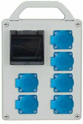 Rozdzielnica przenośna R-BOX 240R 4S 6x250V puste okno IP44 B.1721R