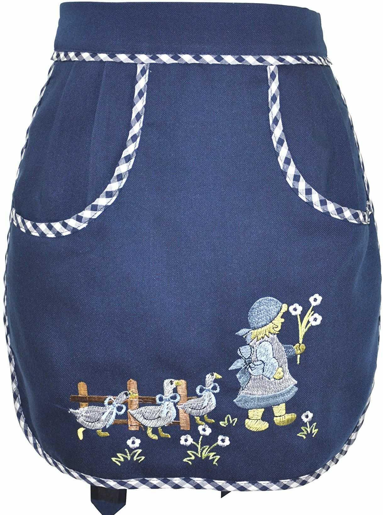 Bellanda fartuch na klamerki, poliester, niebieski, 46 x 42 x 0,5 cm