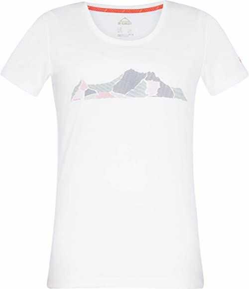McKINLEY Damska koszulka rakka, biała/czerwona, 44