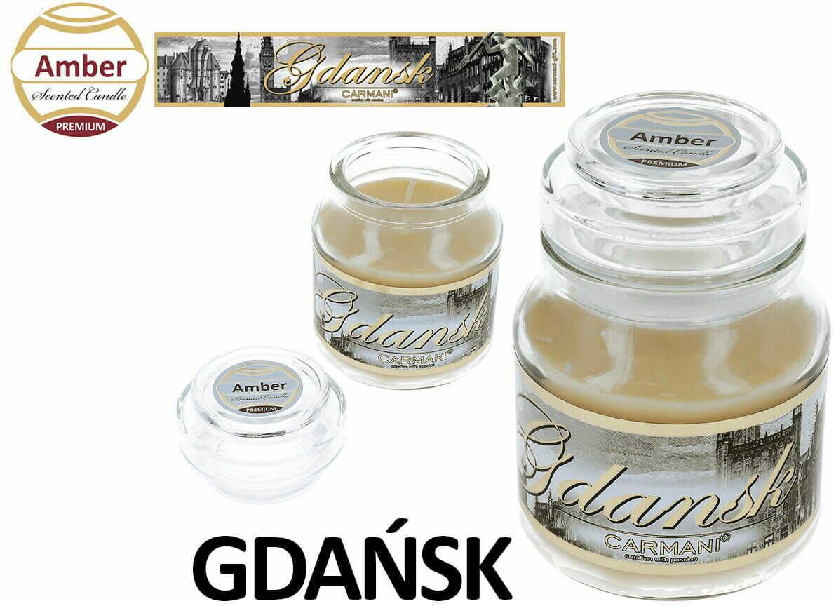 Carmani, świeczka zapachowa american mały - Gdańsk. Amber