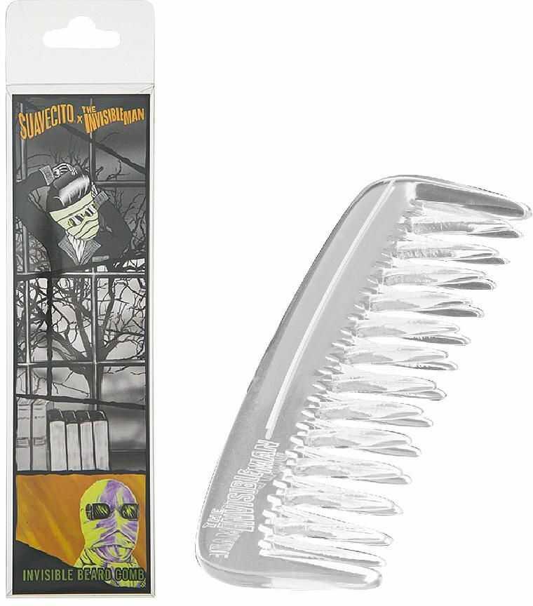 Suavecito Invisible Man - przezroczysty grzebień do brody