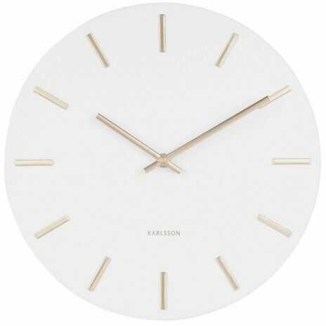 Karlsson 5821WH Stylowy zegar ścienny śr. 30 cm