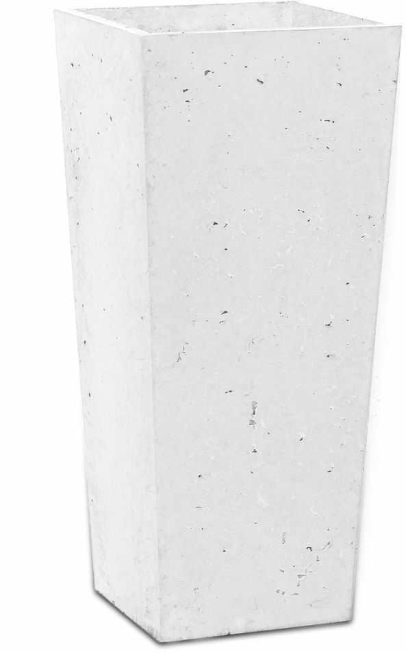 Donica betonowa CONE S 19x19x40 biały