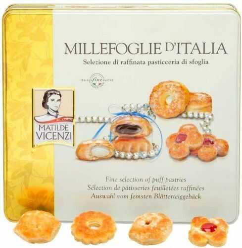 Ciastka Vicenzi Millefoglie d''Italia 240g w metalowanej puszce