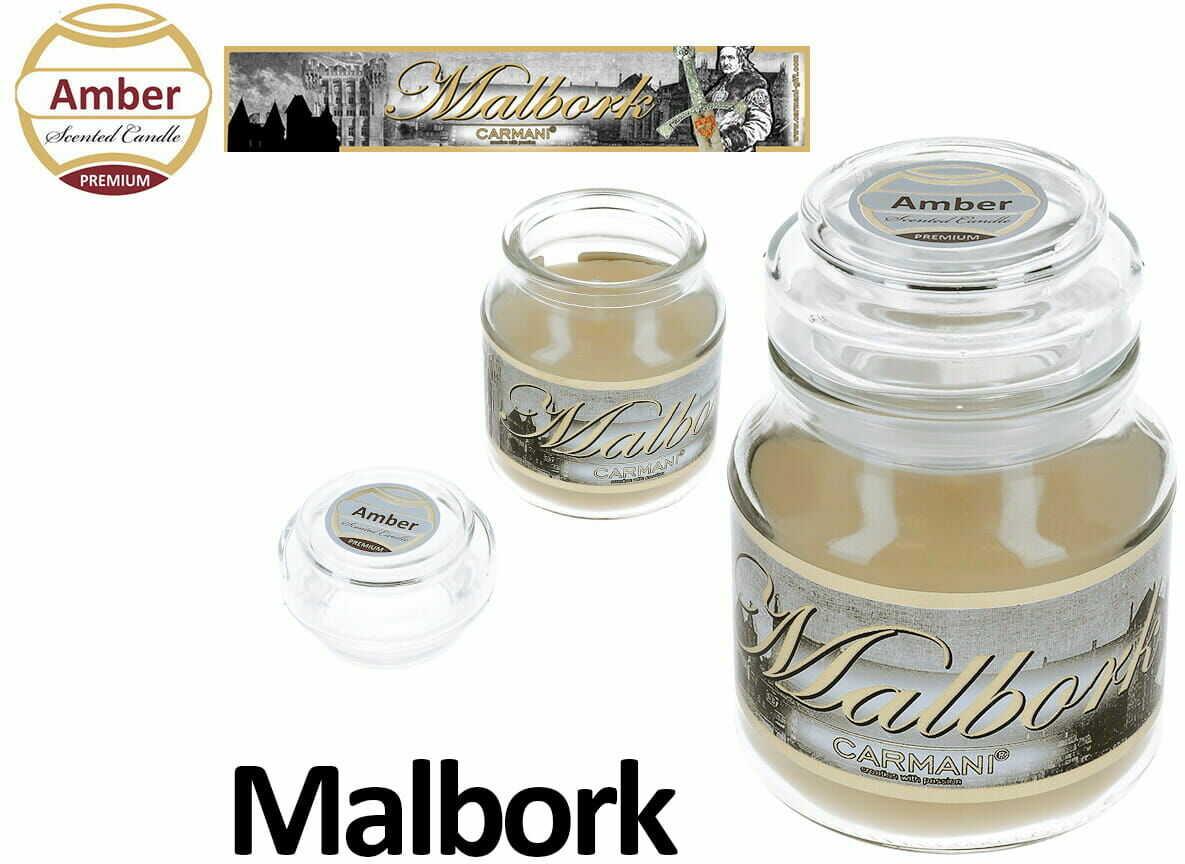 Carmani, świeczka zapachowa american mały - Malbork. Amber