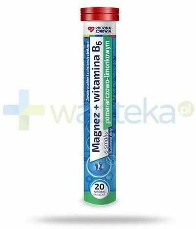 Rodzina Zdrowia Magnez + Witamina B6 20 tabletek musujących
