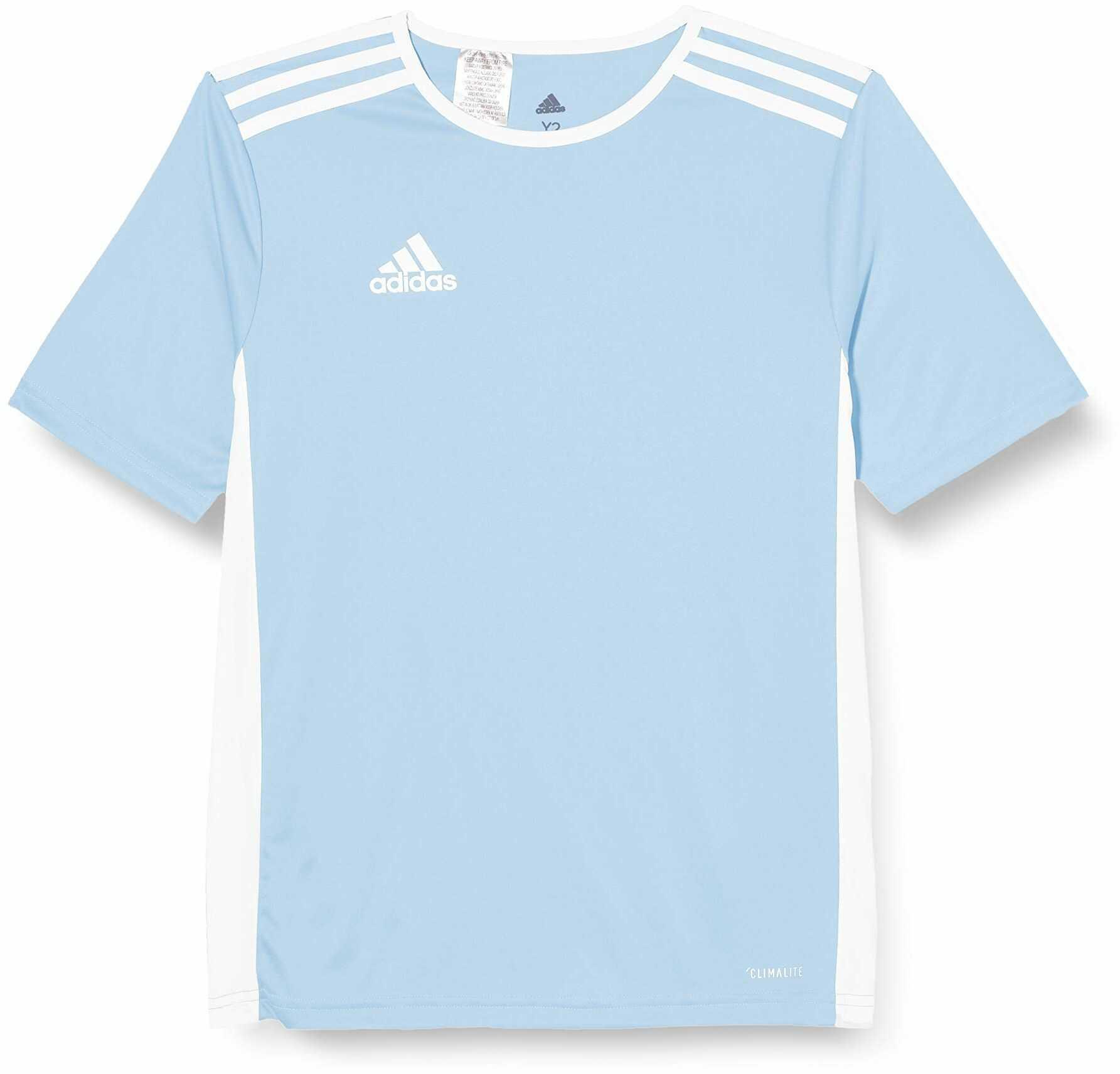adidas Męski T-shirt Entrada 18 Jsy niebieski przezroczysty/biały 18-23
