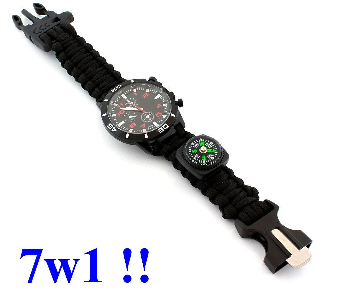 Zegarek Wielofunkcyjny / Opaska SURVIVAL-owa (7w1!!).